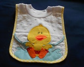 Chick with Washcloth, over the head bib