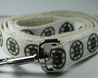 Boston Bruins hemp dog leash