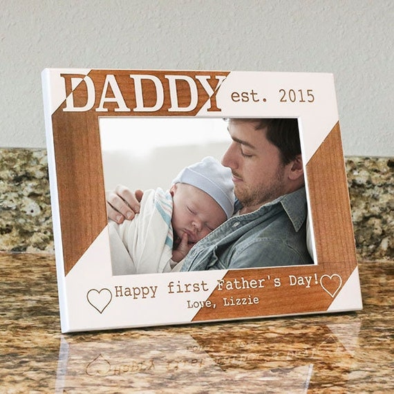 First fathers day frame dad picture frame gift for by for Father s day gifts for first time dads