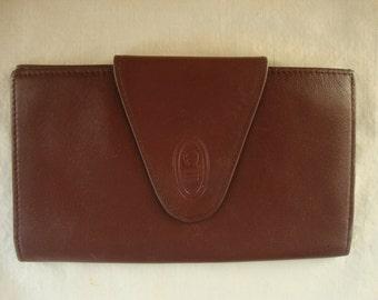 Vintage Aigner Wallet Checkbook Wallet Designer Aigner Leather Wallet Oxblood Leather Wallet Soft Kid Leather Wallet