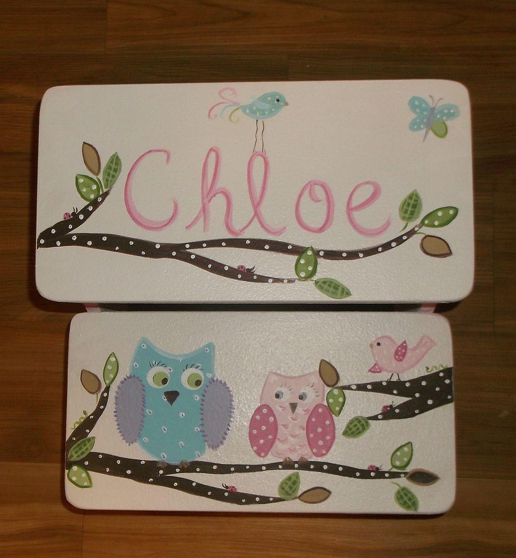 Owls And Birds Custom Kids Step Stool Hailey Pb Bathroom