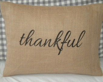 Thankful Pillow Cover - Ready to ship