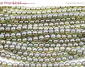 ON SALE Luster Green 6mm Round Czech