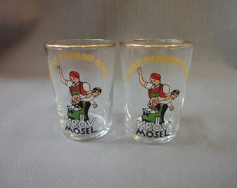 Two German wine tasting glasses-,1l
