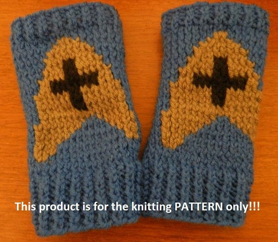 Knitting Pattern: Star Trek Medical Fingerless Gloves