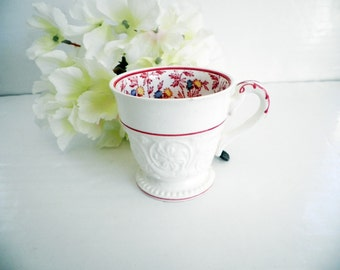 Antique Wedgwood Demitasse Cup Patrician Embossed & Hand Painted 1940