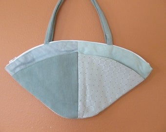 Lu Lu 1339  Four Separate Aqua Colored Fabric Purse, Unique, Purses, Handbag, Handbags, Bag, Bags, Shoulder Bag, Shoulder Purse,Fabric