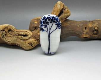 Black and White Tree - Lampwork Focal Bead