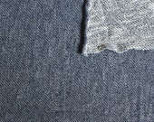 Navy Blue Textured Light Weight French Terry Knit Sweatshirt Fabric, 1 Yard