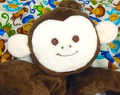 Reserved for a Great Customer, 18x18 Monkey Lovey with Name Embroidery