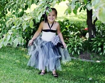 tutu dress, flower girl, baby shower, birthday dress, photo shoot, girls clothing, dress, black tutu dress, white tutu dress, toddler tutu