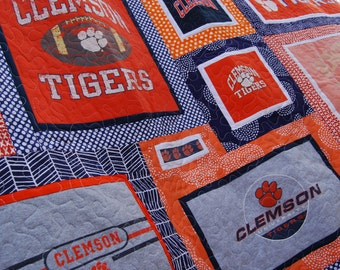 CUSTOM T-shirt Quilt - Memory Quilt - Graduation Gift - Custom Quilt - Made to Order Size Varies (Deposit Only)
