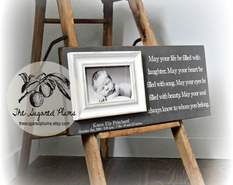Picture Frame, Personalized Picture Frame, Grandparents Picture Frame, Baby Picture Frame,8x20The Sugared Plums