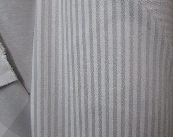 TICKING zink (silvery gray) designer,drapery/bedding/upholstery fabric