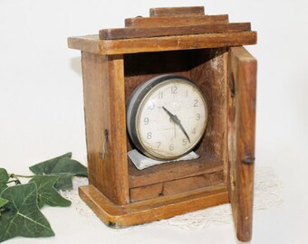 Old Clock Box, Wood, Vintage
