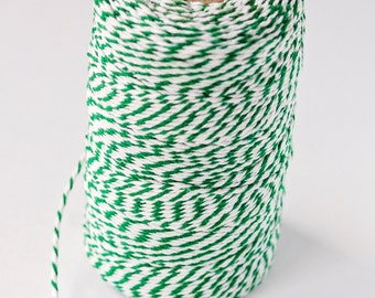 Baker's Twine Spool - White/Dark Green