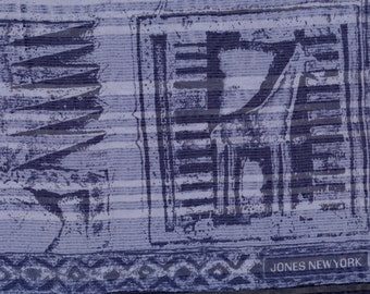 Jones Silk Scarf blue gray sheer