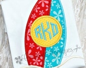 Monogram Surfboard Shirt * Custom Appliqué * Personalized Embroidery - Summer Shirt