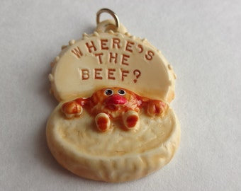 Where's the Beef Burger Pendant 1984 Wendy's