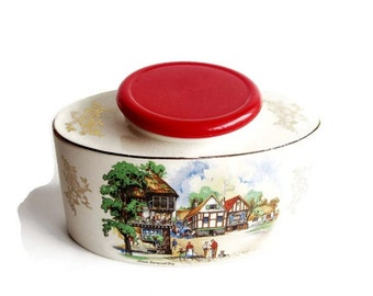 Vintage Tea Canister -  Staffordshire for Twinings- England