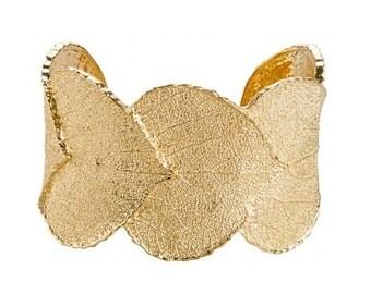 Gold Leaf Cuff Bracelet