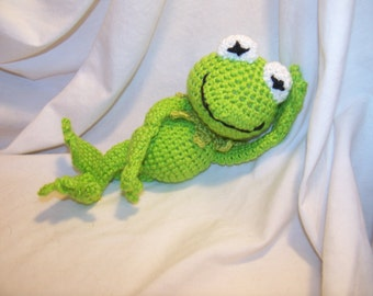 Crochet Kermit the Frog  Can be made to rattle inspired