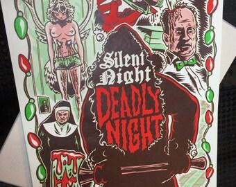 Silent Night Deadly Night screenprint
