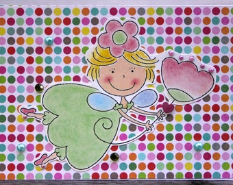 Birthday card-Fairy Princess; little girl birthday card