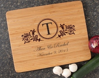 Personalized Cutting Board, Personalized Wedding Gift, Custom Engraved Bamboo Cutting Boards, Wedding Gifts, Housewarming Gifts-15 x 12 D15