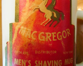 MacGregor shaving mug with soap vintage
