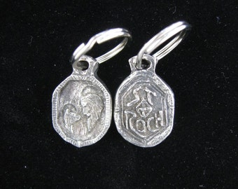 Patron Saint of Dogs & Dog Lovers: Handmade St Roch Medal