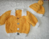Boys Gold Fuzzy Sweater Set for 18 to 24 Months