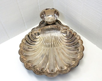 Vintage Silverplate Clam Shell Chip And Dip Tray International Silver Co. Serving Tray
