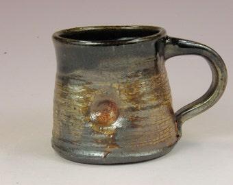 Coffee mug. 12oz cup. Wheel thrown cup.  Large mug. Soda fired mug