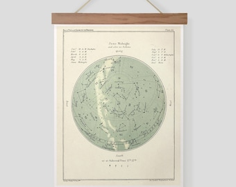 Popular Guide to The Heavens Star Chart Plate 45 Pull Down Chart