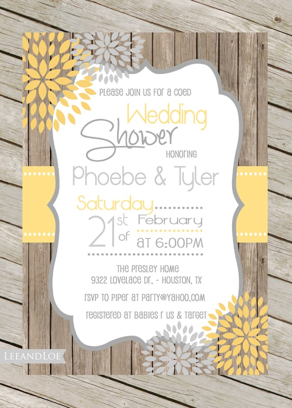 rustic wedding shower invitations sansalvaje com