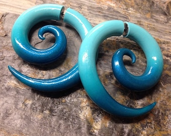 Colorfade Spirals - Faux Gauged Earrings - Fakers - Fake Gauge Earrings
