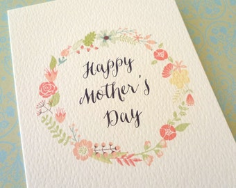 Circle of Flowers Mother's Day Card