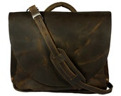 Made in USA! US Mail Bag Replica, Mail Carrier Mailman Bag - Rich Chocolate Brown