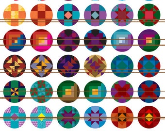 Quilt Magnets~Heirloom Quilt Magnets Pins