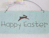 Wooden Happy Easter Sign - Easter Sign - Easter Decoration
