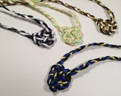 Handfasting Cord with Celtic Heart Knot - Your Choice of Colors - Tie the Knot - Tartan Wedding - 100% Handmade in USA