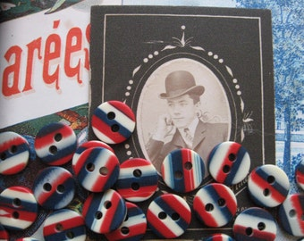 Three Cheers for the Red, White, and Blue...vintage world war ll buttons...1940...lot of 75