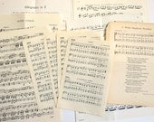 VINTAGE SHEET MUSIC - mixed collection of pages from vintage scores