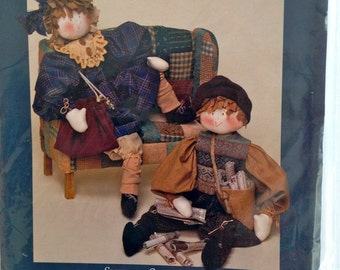"Vintage – Pattern for 27"" Boy and Girl Folk Dolls and Accessories – Late Edition Dream Spinners No. 509 – Snippets Collection"