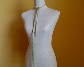 light green leather belt, necklace by Tuscada. Ready to ship.