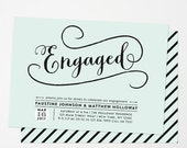 Engagement party invitation / Engagement Party Invite / Engagement Dinner / Couples Shower / DIY Printable