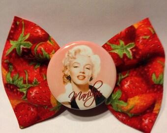 Marilyn strawberry bow