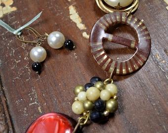 Vintage Salvaged Jewelry Assemblage Bracelet:  - ReaganJuel