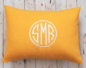 Monogram Pillow Cover, Monogram Cushion Cover, Monogram Decor, Monogram Throw Pillow Cover, Monogrammed Pillow, Solid Monogram Pillow